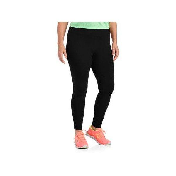d2fc396a566 Danskin Now Women s Plus-Size Dri-More Core Legging Walmart.com ❤ liked on Polyvore  featuring pants