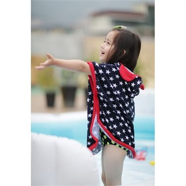 Gorgeous and stylish star print hooded beach towel for this summer