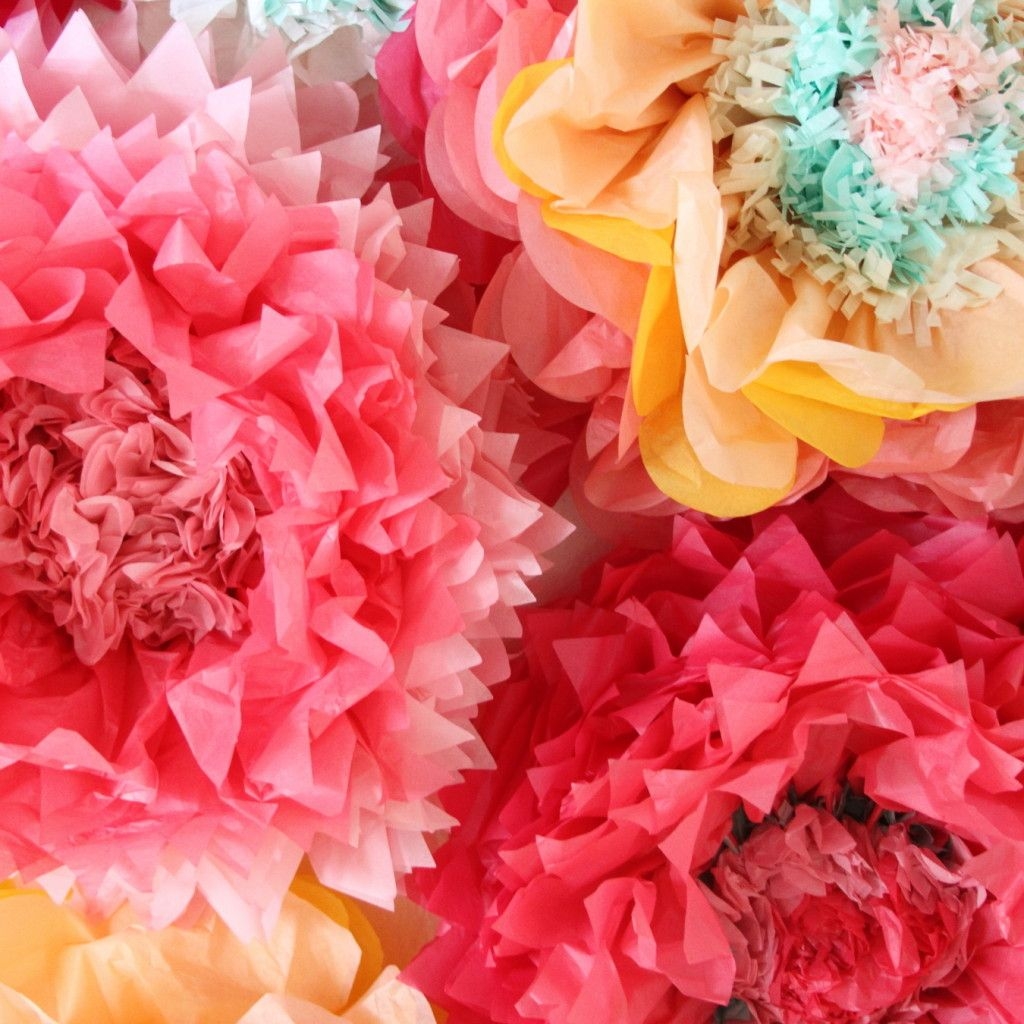 How To Make Giant Tissue Paper Flowers Tays Baby Shower
