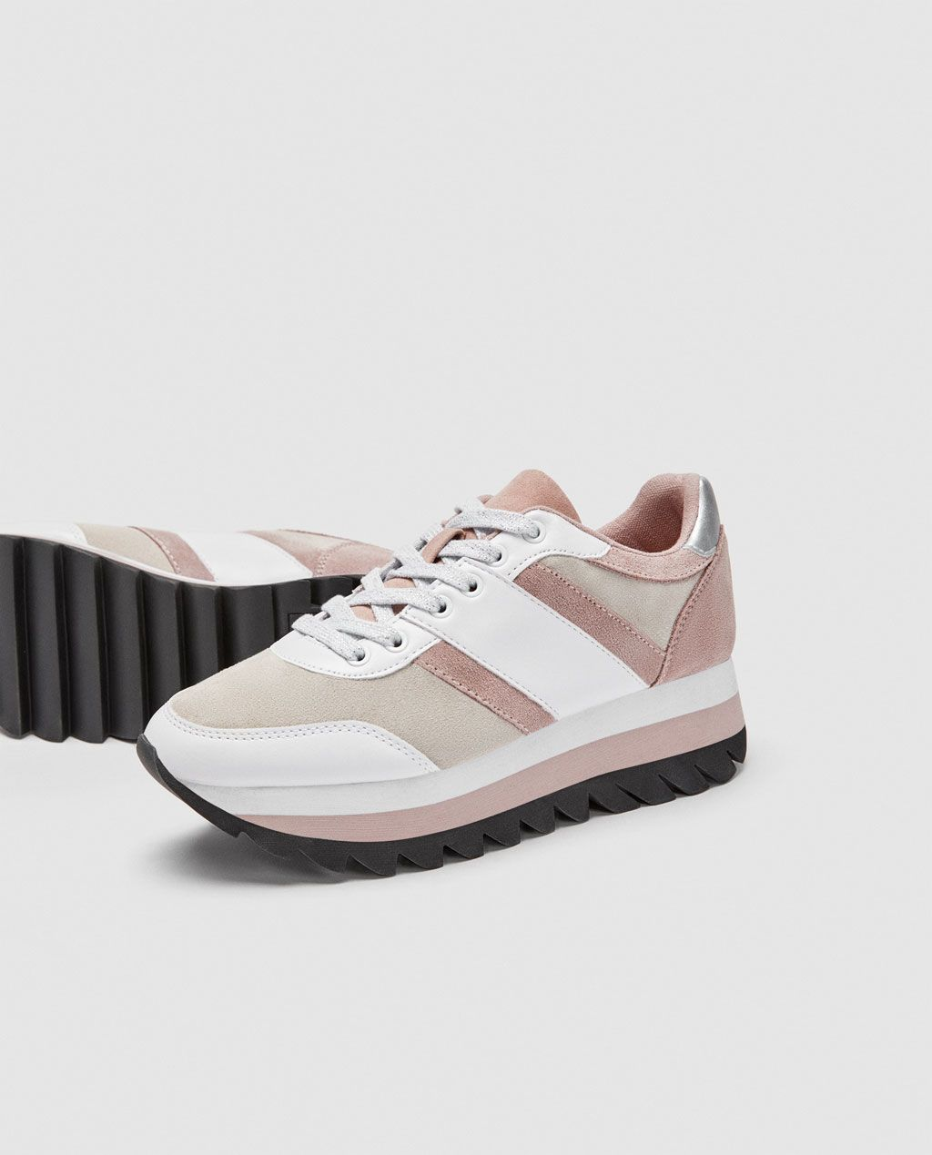 2693e524 Image 4 of CONTRASTING SNEAKERS from Zara Zara, Adidas Samba, Contrast,  Spring Summer