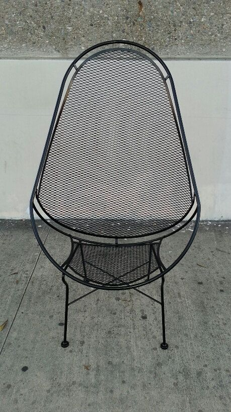 Salterini High Back Lounge Chairs With Footrests Mid Century Patio ...