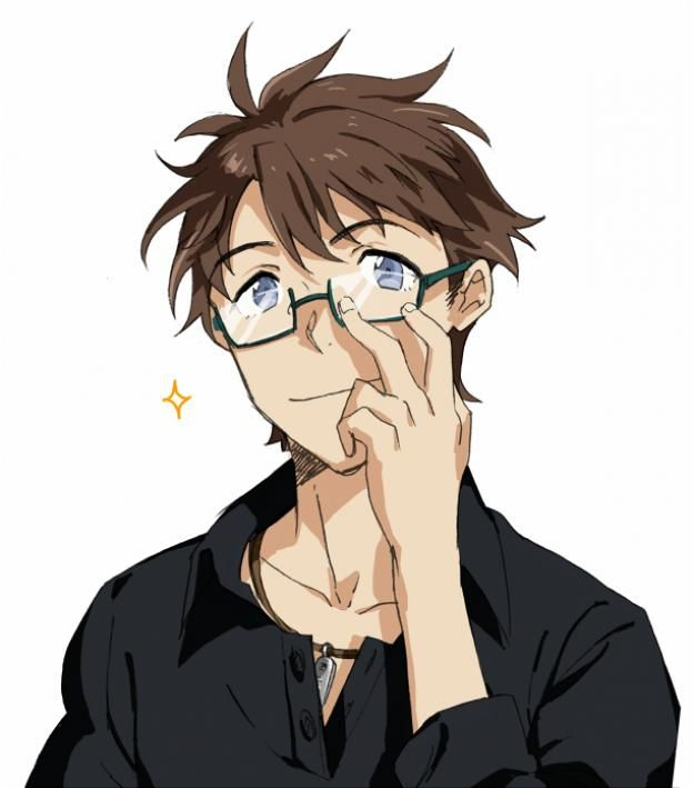 1boy Akagi Kouhei Bespectacled Blue Eyes Brown Hair Glasses Male Ore No Imouto Ga Konna Ni Kawa Anime Guys With Glasses Anime Glasses Boy Brown Hair Blue Eyes