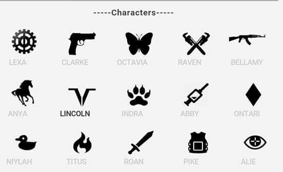 The 100 Character Symbols Half Of Them Are Dead The 100 In 2018
