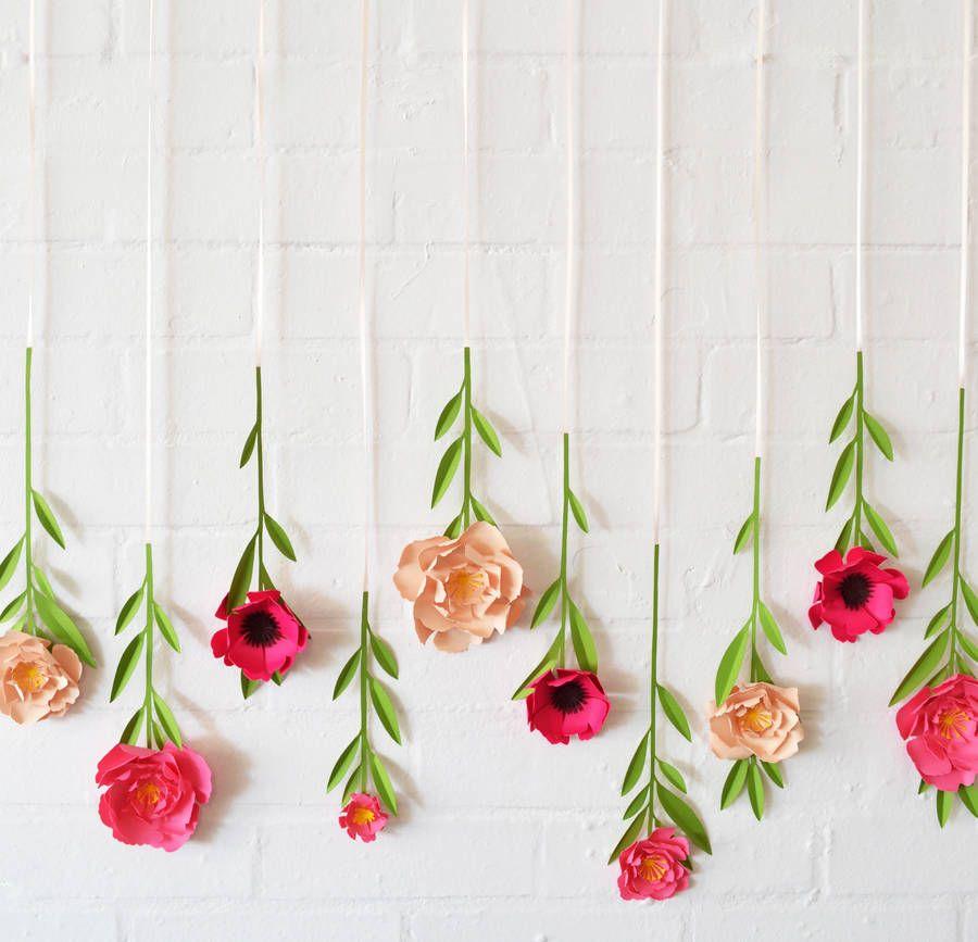 Set of 10 handmade hanging paper flowers hanging paper flowers set of 10 handmade hanging paper flowers mightylinksfo