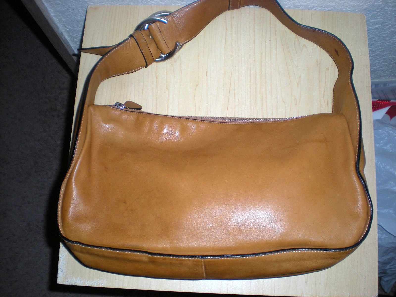 prada medium saffiano double zip bag, authentic prada
