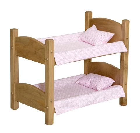 Doll Bunk Bed Heirloom Baby Beds Handmade For 18 Chloe Pinterest
