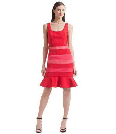 021969d4408 Love the red stripes! Belle Badgley Mischka red dress from Dillard s ...