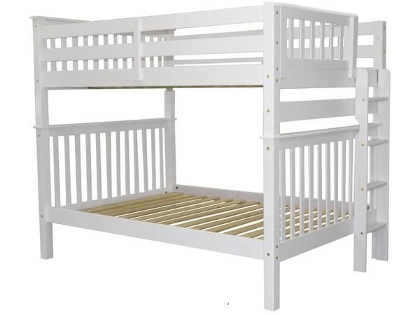 Best Bunk Beds Full Over Full End Ladder White Bunk Beds Bed 400 x 300