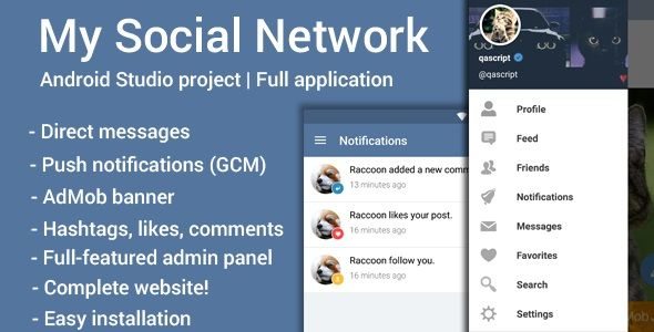 My Social Network (App and Website) . My Social Network – application for  android and web