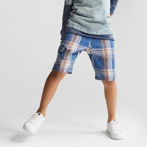 7fb89d40b6 Boys' Plaid Pull-On Shorts - art class™ Blue : Target | Future ...