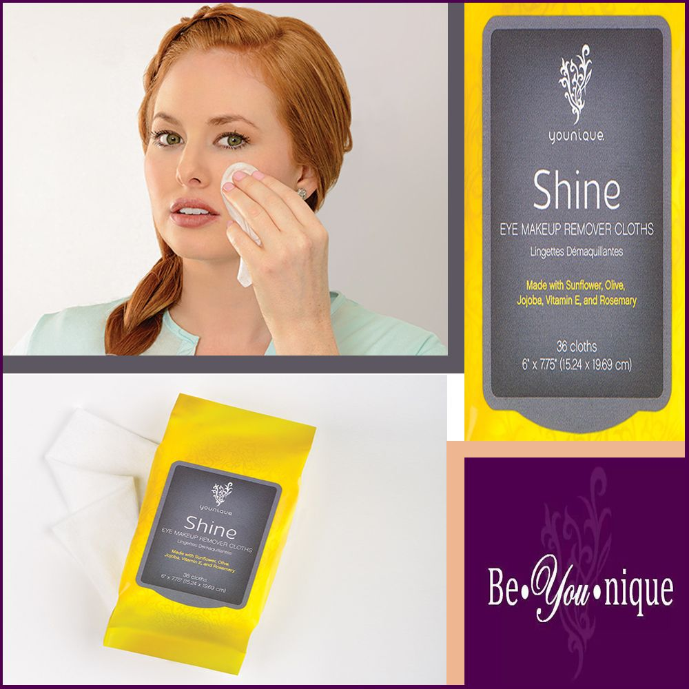 Wipe away the makeup of the day with Shine Eye Makeup