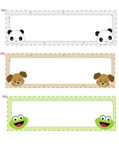 Name Cards For Kids 1 Book Lable Kids Cards Nametags