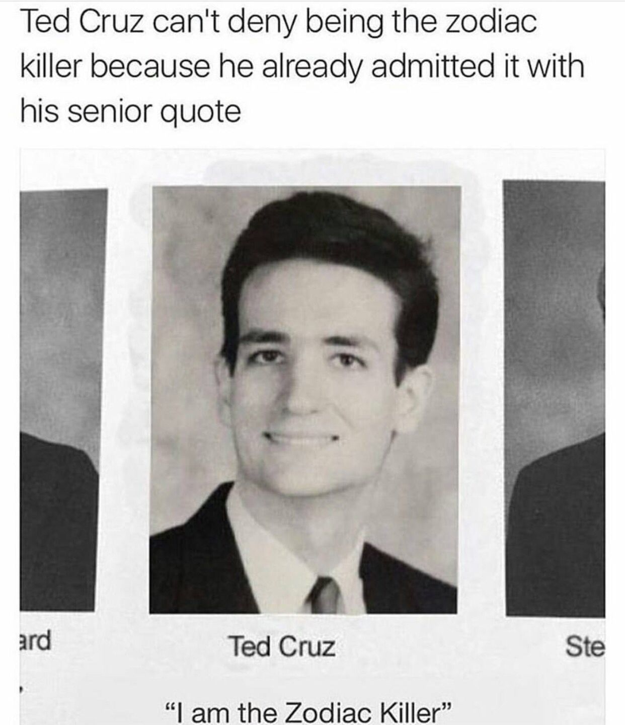 A facetious conspiracy theory, the meme suggests that ted cruz,. Ted Cruz Meme Zodiac : Funny Zodiac Killer Memes of 2017 ...
