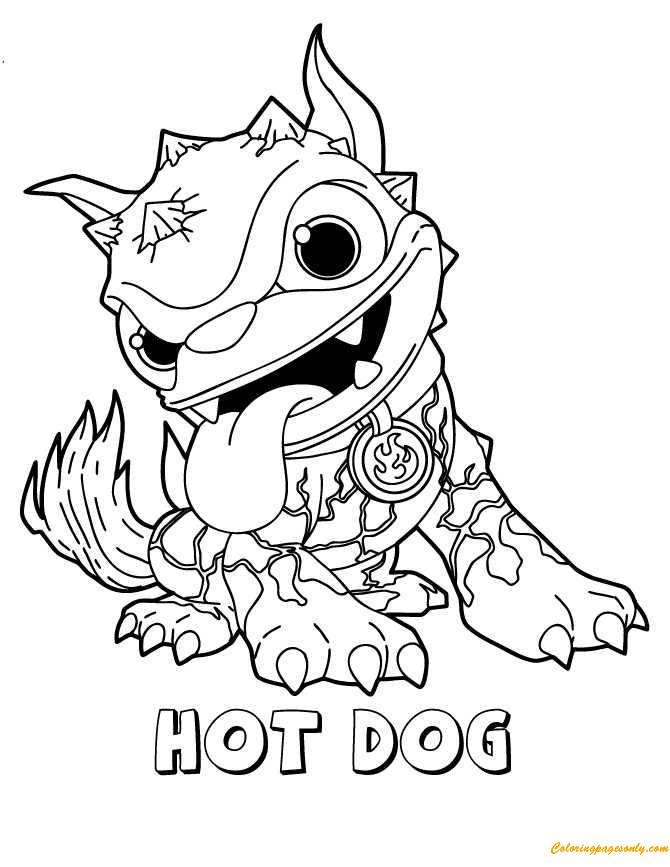 Skylanders Hot Dog Coloring Pages Dog Coloring Page Cartoon Coloring Pages Cute Coloring Pages