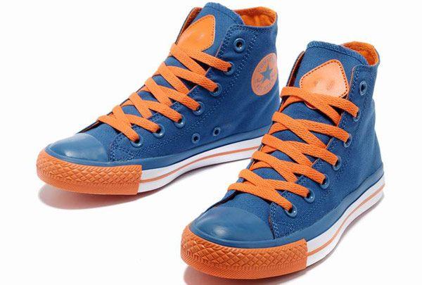 165820b3c034 2013 Newest Dazzle Colour 3 Converse All Star Chuck Taylor High Tops Azure  Orange Women Mens Casual Canvas Sneakers  M13071905  -  58.00   Discount  Converse ...