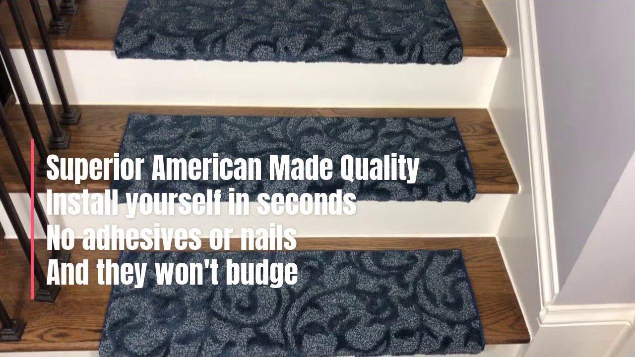 Best Lucid Ivy Blue Bullnose Carpet Stair Treads Bullnose 400 x 300