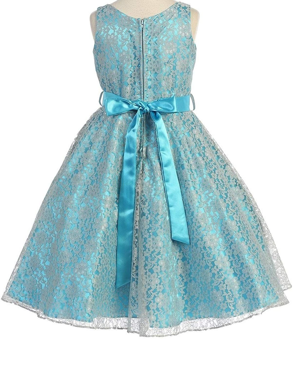 e81058fe66b Dreamer P V Neck Sleeveless Lace Floral Pattern Satin Sash Flower Girl  Dress Size 4-16     Click image to review more details. (This is an  affiliate link)   ...