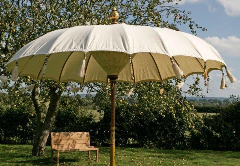Sonnenschirm Im Orientalischen Stil Bambus Staender Indisch Design Handarbeit