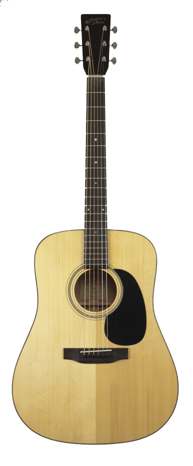 $799. The Recording King RD316 features a solid AAA Adirondack Spruce top; solid African Mahogany back & sides. One-piece neck fitted to the body with a hand-cut dovetail joint. Ebony fretboard and bridge. Tasteful appointments include descending sized dots on the fretboard, solid black bridge pins and endpin, tortoise body binding, traditional rosette. All nickel plate hardware & Grover butterbean tuners.