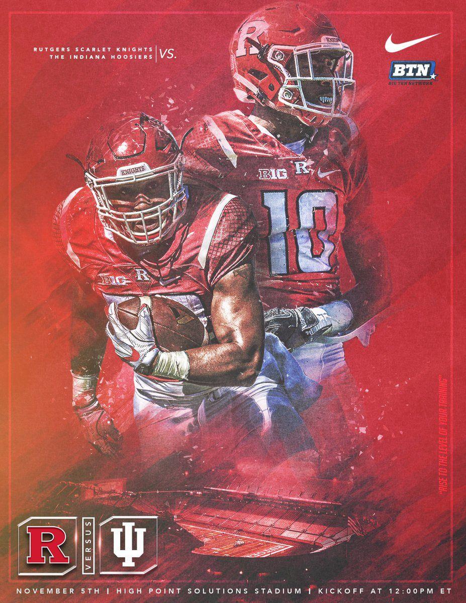 Rutgers Sports Graphic Design Rutgers Football Football Design