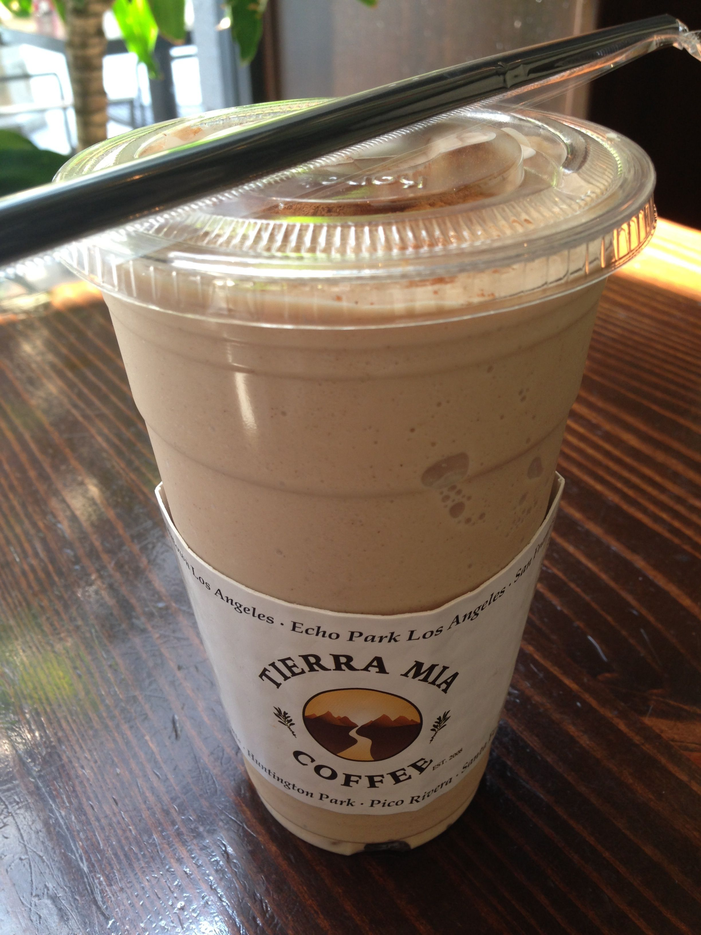 Perfect Summer Day Treat In Dtla Horchata Frappe From Tierra Mia Coffee On Spring Street Downtownla Horchata Caffeine Fiend Frappe