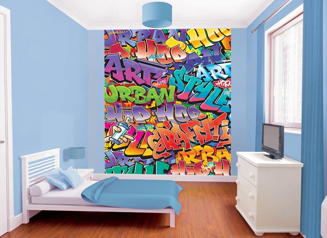 Graffiti Wallpaper Bedroom Walls   Bedroom Style Ideas