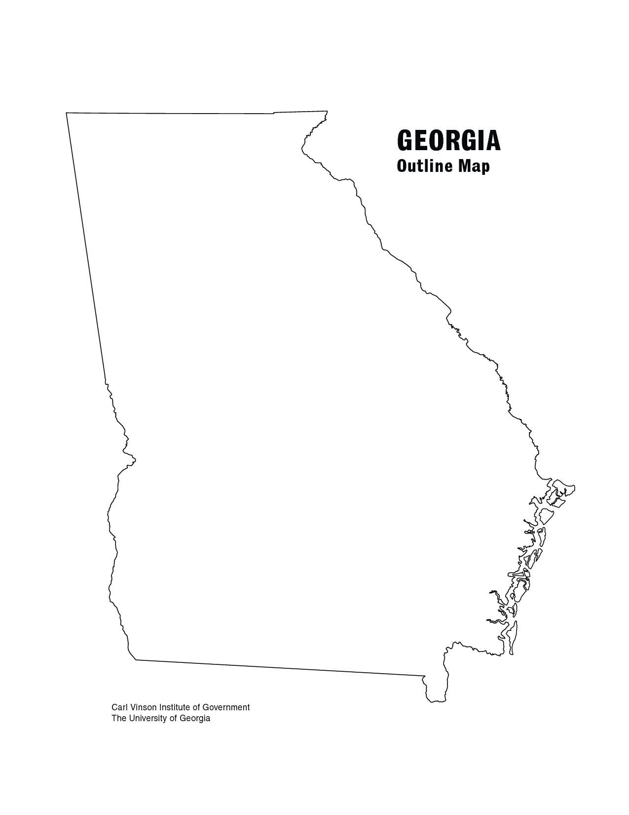 Georgia Outline GEORGIA Outline Map PDF Photos Pinterest - State of georgia map outline