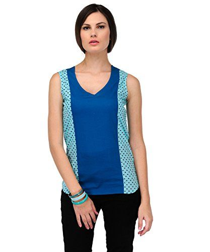 Yepme Women's Blue Cotton Tops YPMTOPS0515_S