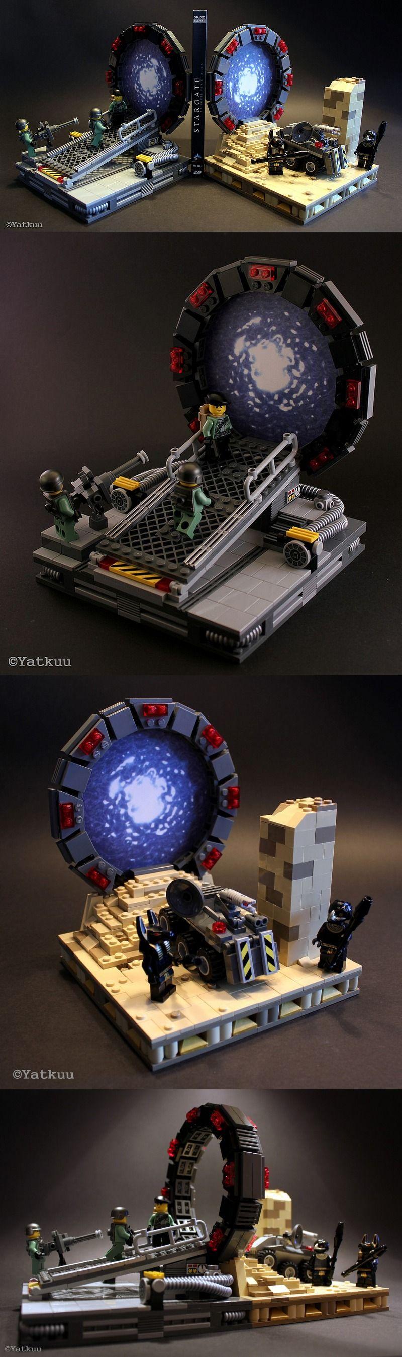 Oh my gosh its lego stargate!! LEGO Stargate bookends @Aaron Kapor Kapor Kapor Hankins