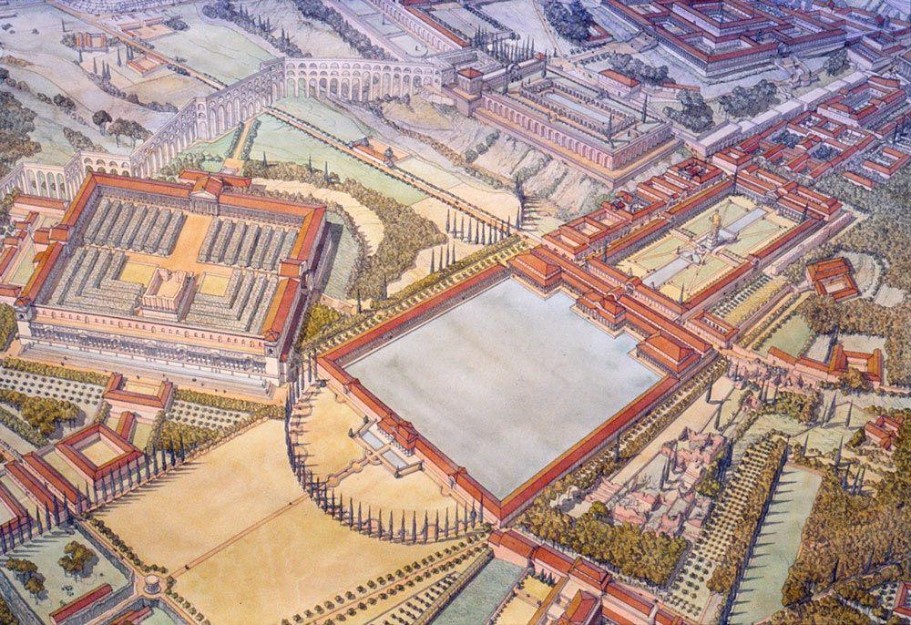 Italie - Roma (Rome) - République sous Néron - Domus aurea ou Maison dorée (Palais impérial ...