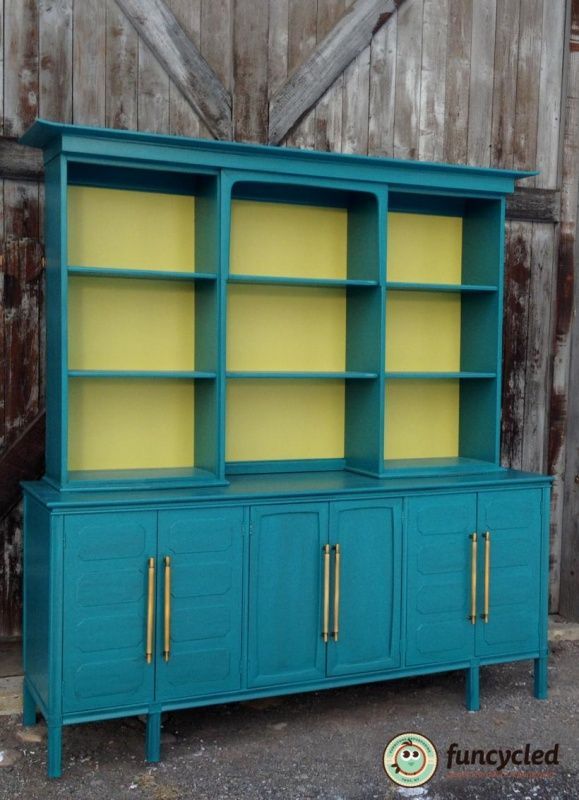 Teal Mid Century Modern Buffet Furniture Decorating