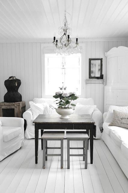 Danish white livingroom