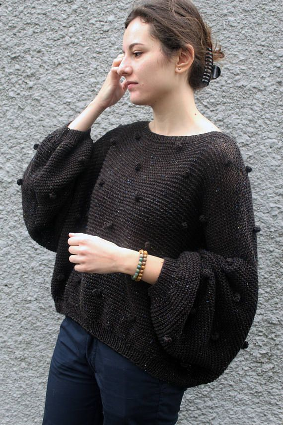 Loose Knit Sweater Plus Size Jumper Cropped Sweater Bomber Pullover