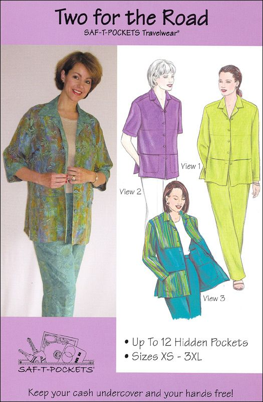 Two For The Road 9800 Saf T Pockets Patterns Sewing Patterns