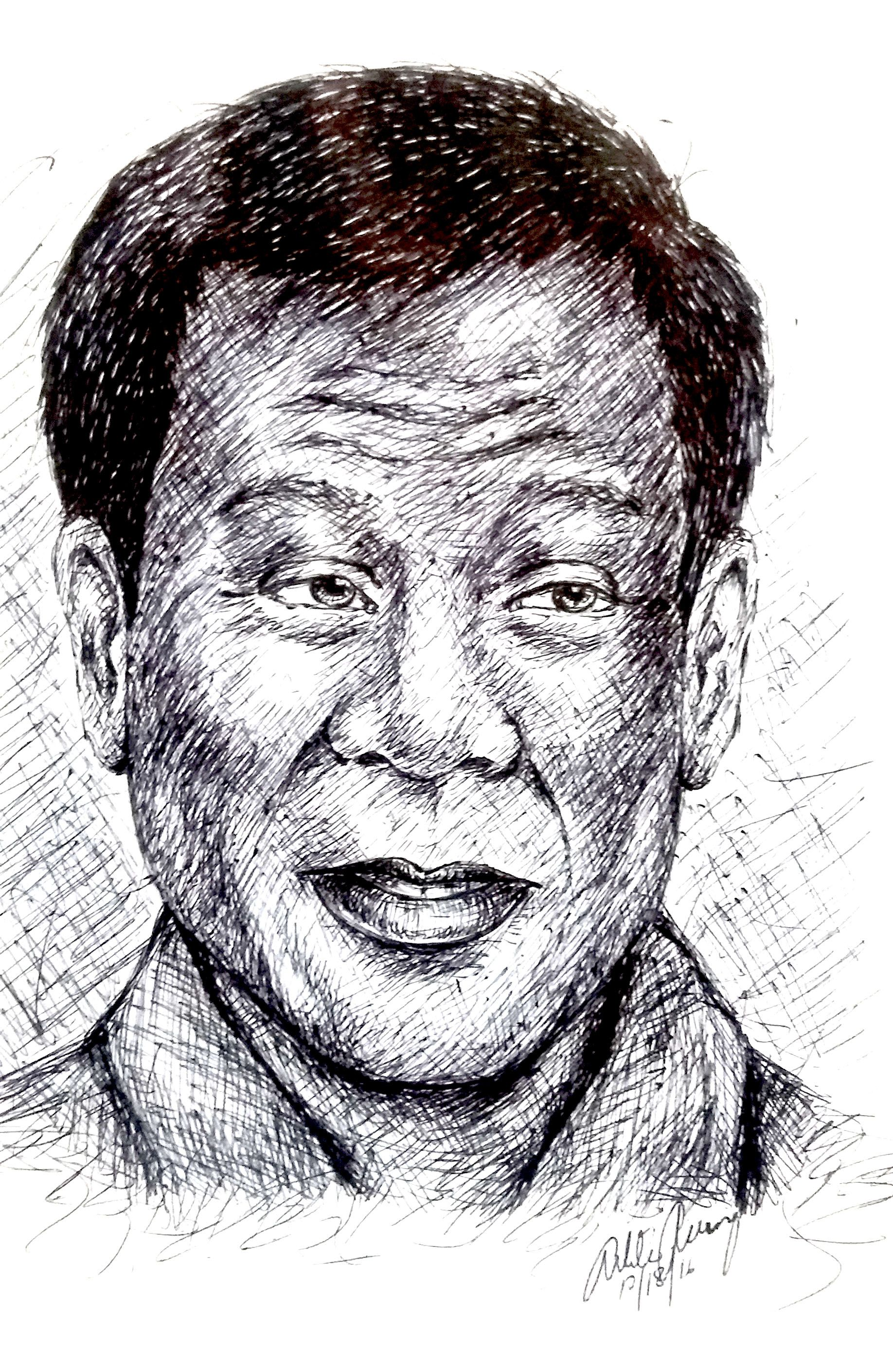 Rodrigo Rody Roa Duterte Also Known As Digong Is A Filipino Politician And Jurist Who Is The 16th And Curre Ink Pen Drawings Cartoon News Editorial Cartoon