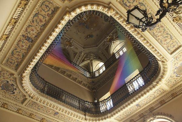 Artist Creates Astounding Rainbow Light Installations With Thread
