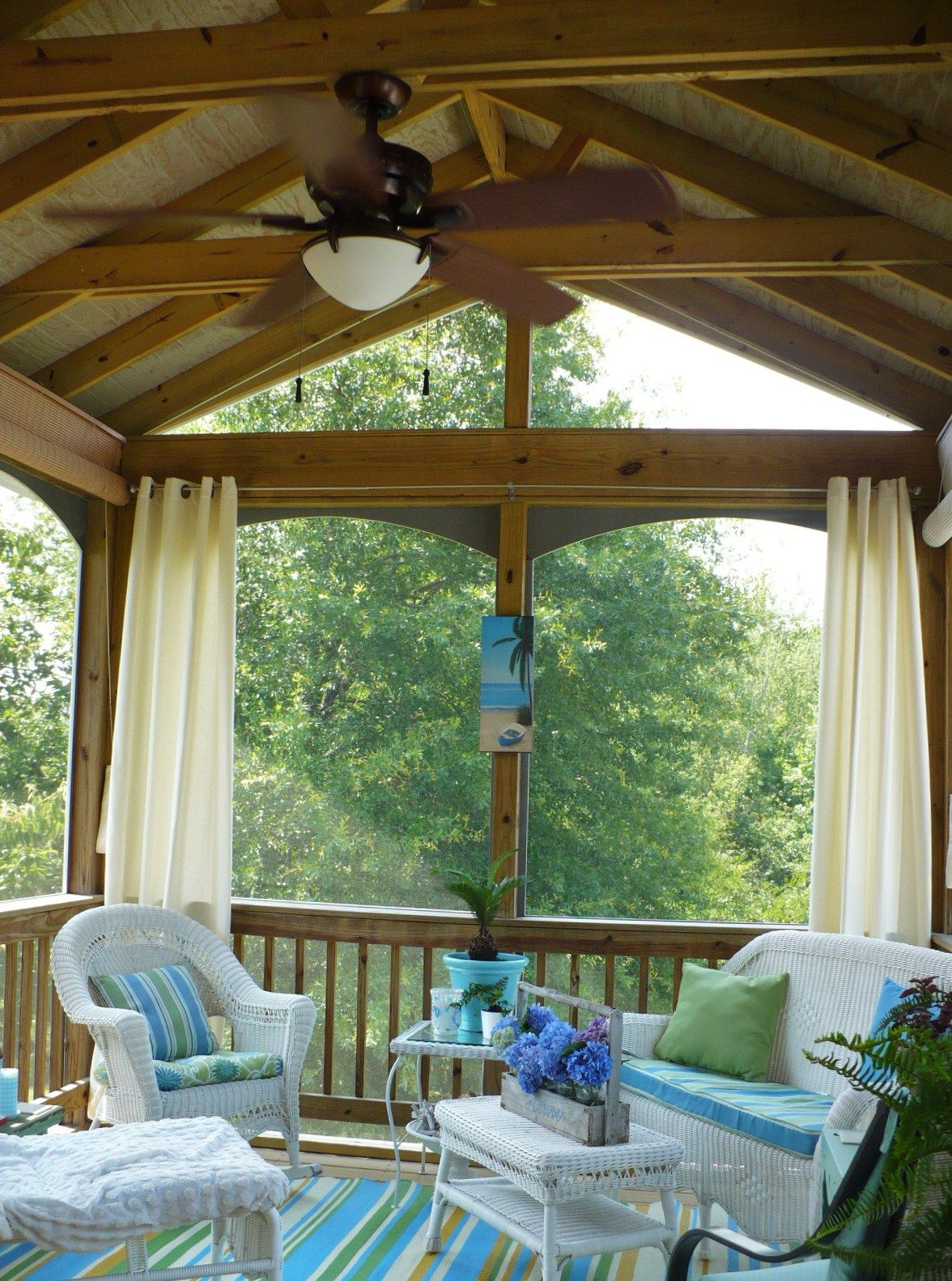 Screened Porch Curtains - A summer porch