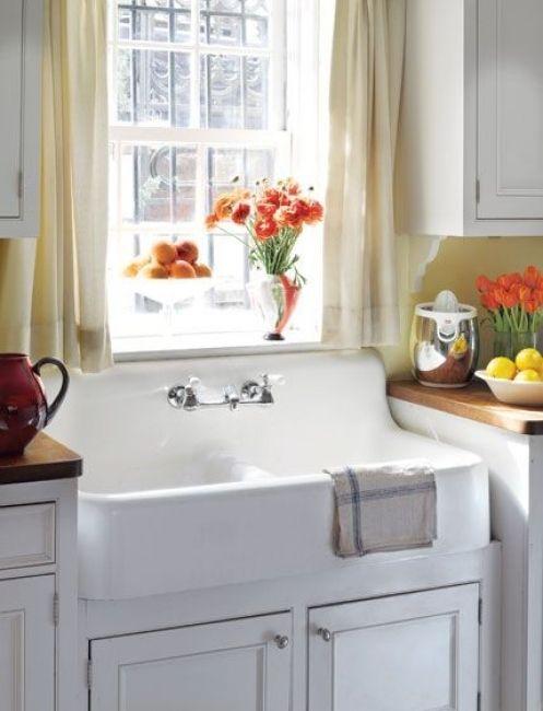 Five Easy Ways To Add Farmhouse Style To A Kitchen Farmhouse Sink Kitchen Kitchen Sink Design Trendy Farmhouse Kitchen