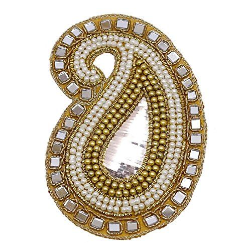 Beaded Paisley Shape Indian Decorative Applique Supplies Royal Patch 1 Piece Knitwit http://www.amazon.com/dp/B0197UAV8E/ref=cm_sw_r_pi_dp_YseMwb0RZQ0H4
