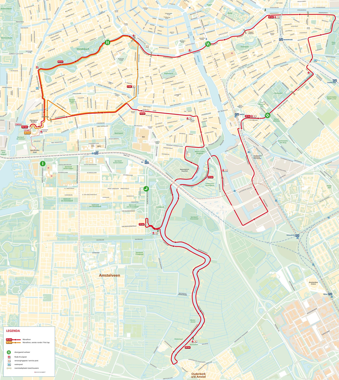 Bekend Amsterdam Marathon Route | Run The World - Amsterdam marathon @WF64