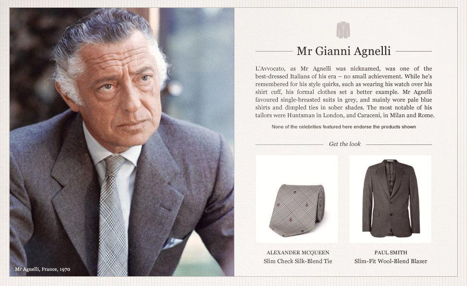 Mr. Gianni Agnelli. | Stylish suit, Gianni agnelli, Style ...