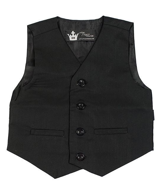 e432f41de74de Black Suit Vest - Infant Toddler   Boys
