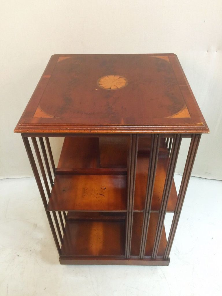 Rotating Wooden Bookcase Book Shelf Table $185