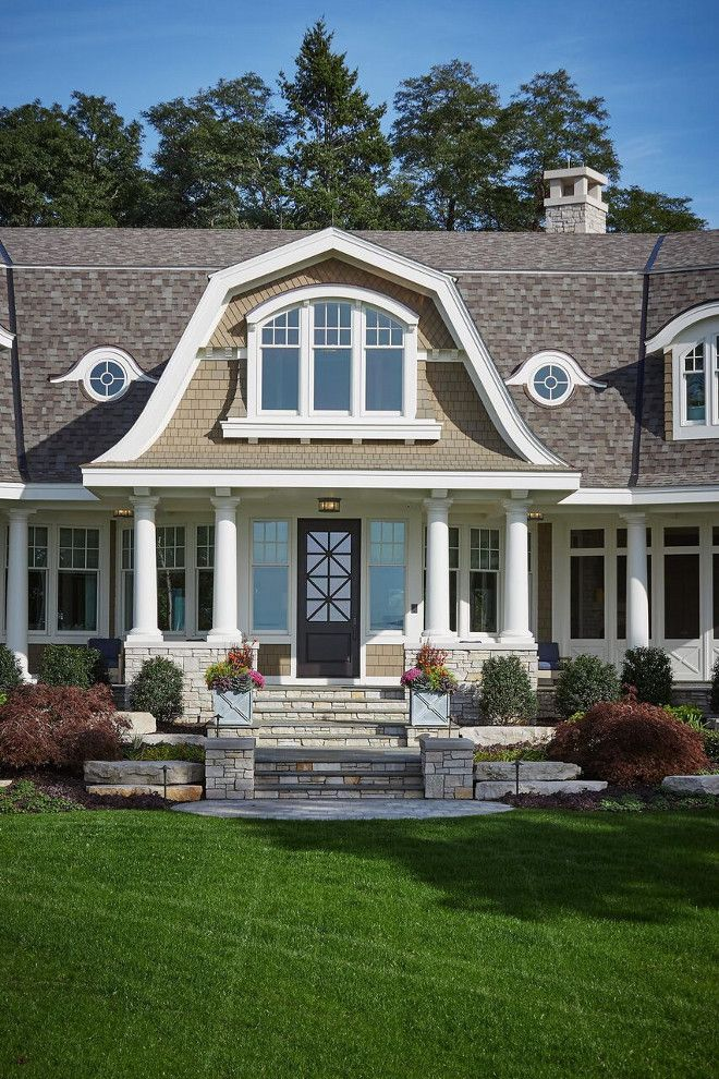 Best Natural Shingle Home With White Trim Natural Shingle Home 400 x 300