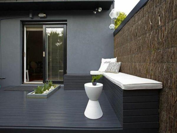 moderne terrassengestaltung 100 bilder und kreative einflle graue dachterrasse gestalten dekoideen sitzecke - Sonnenterrasse Gestalten Ideen
