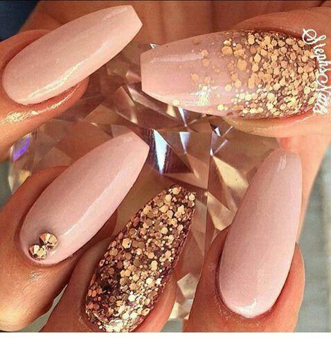 New 550pcs Bag Coffin Ballerina Nail Tips 10