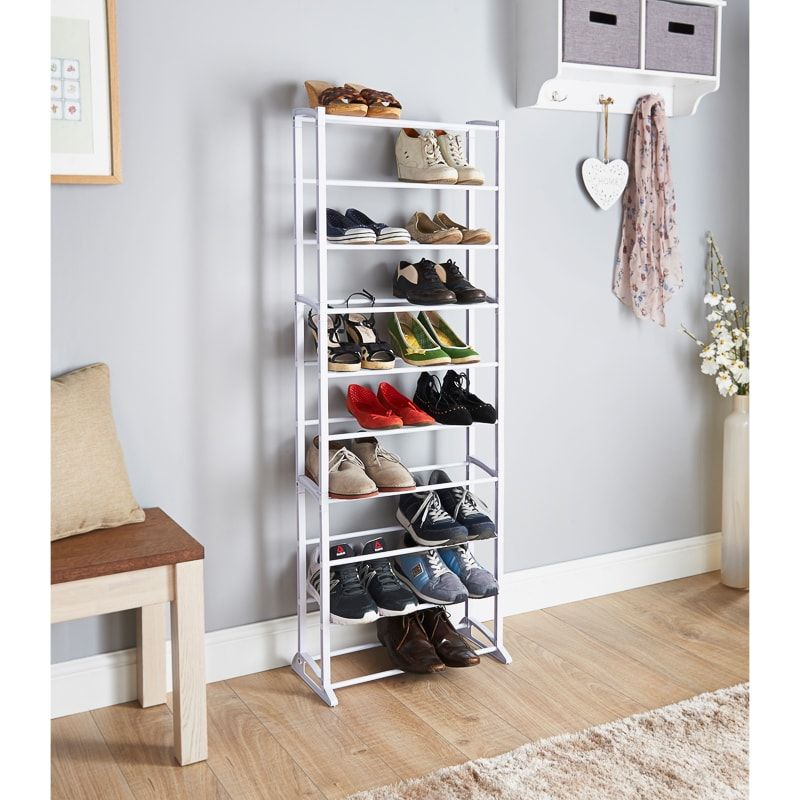 Store All Of Your Shoes With This Shoe Storage Rack From Addis Easy Assembly Complete With All Required Fitti Shoe Rack Shoe Rack Furniture Shoe Storage Rack