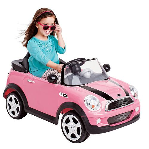 maybe addie needs it first and it can be passed down avigo 6 volt mini cooper car ride on pink