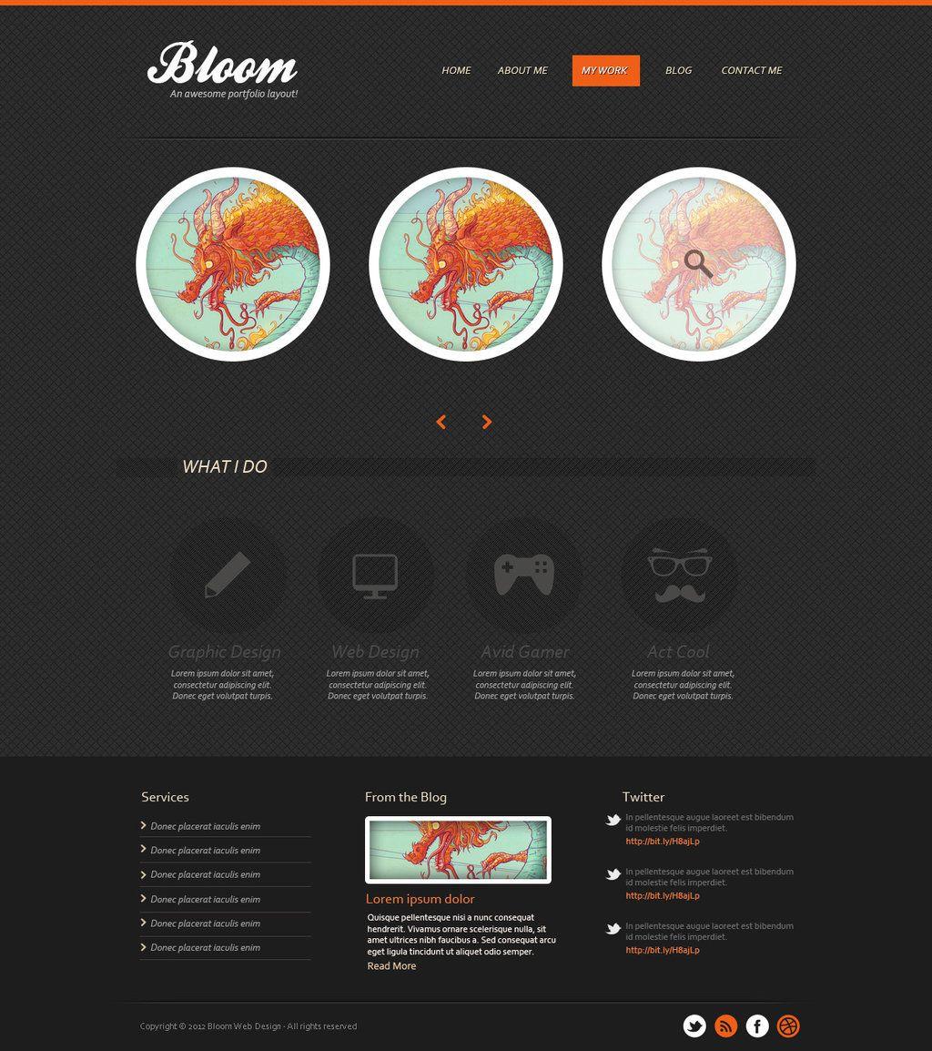 Dark textured portfolio template in photoshop by ainsleybiantart dark textured portfolio template in photoshop by ainsleybiantart on deviantart photoshop webphotoshop tutorialweb baditri Gallery