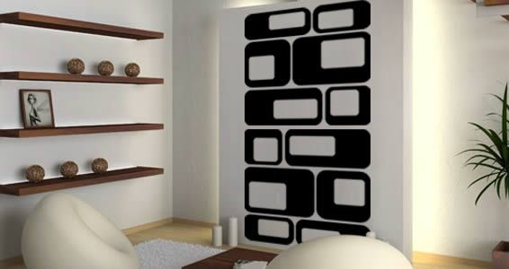 Square Dots decals home stickers